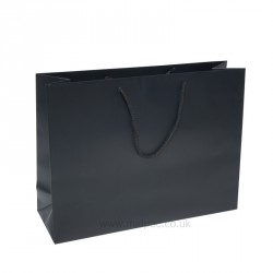 400mm Black Matt Laminated Paper Carrier Bags