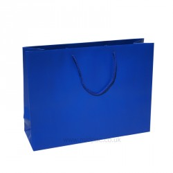 400mm Regency Blue Matt Laminated Paper Carrier Bags