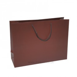 400mm Cocoa Matt Laminated Paper Carrier Bags