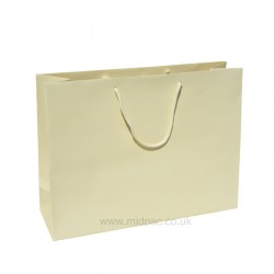 400mm Buttermilk Matt Laminated Paper Carrier Bags
