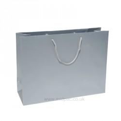 400mm Silver Matt Laminated Paper Carrier Bags