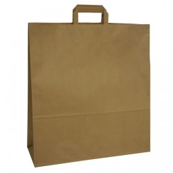 450mm Brown Paper Carrier Bags Internal Handles