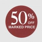 50 Percent Off Label
