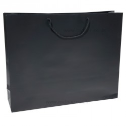500mm Black Matt Laminated Paper Carrier Bags