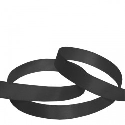 9mm Black Double Faced Satin Ribbon