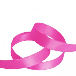 9mm Shocking Pink Double Faced Satin Ribbon
