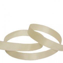 9mm Ivory Double Faced Satin Ribbon