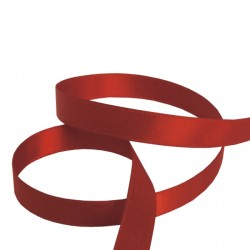 9mm Red Double Faced Satin Ribbon