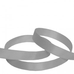 9mm Silver Double Faced Satin Ribbon