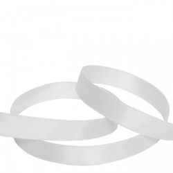 9mm White Double Faced Satin Ribbon