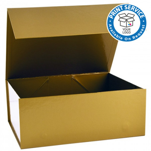 300x400x150mm Gold Magnetic Gift Boxes