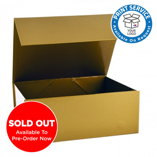 220x280x110mm Gold Magnetic Gift Boxes