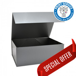 160x200x80mm Silver Magnetic Gift Boxes