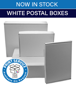 Stock White Postal Boxes
