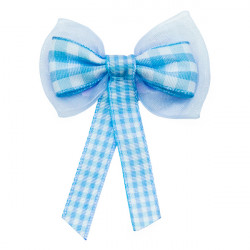 Baby Blue Gingham Bows