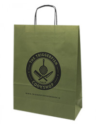 Printed White Paper Carrier Bags