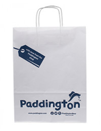 Printed Twisted Handle Paper Carrier Bags