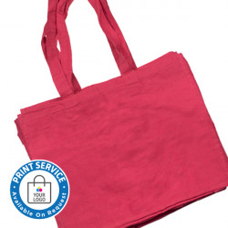 Large Raspberry Canvas Bags