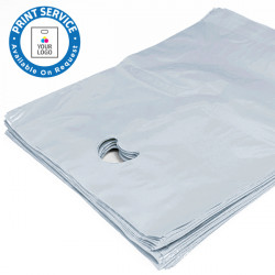 8x12in Clear Polythene Carrier Bags