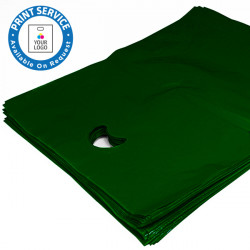 8x12in Dark Green Polythene Carrier Bags