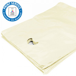 8x12in Ivory Polythene Carrier Bags