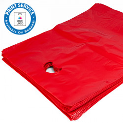 15x18in Red Polythene Carrier Bags