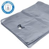 8x12in Silver Polythene Carrier Bags
