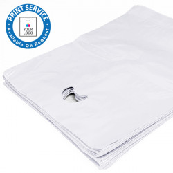 8x12in White Polythene Carrier Bags