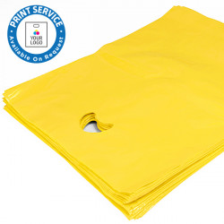 8x12in Yellow Polythene Carrier Bags