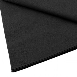 Coloured Serviettes Black