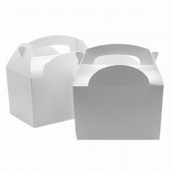 White Children's Meal Boxes