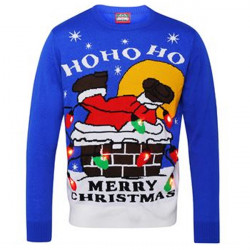 Ho Ho Ho Light Up Christmas Jumper