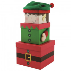 Elf Christmas Stacking Boxes