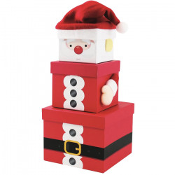 Santa Christmas Stacking Boxes