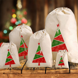 Coloured Christmas Tree Sacks