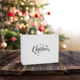 Merry Christmas White Gift Box 120mm