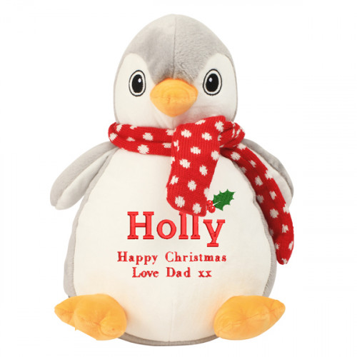 Personalised Christmas Penguin Soft Toy