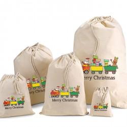 Toy Printed Cotton Drawstring Bags
