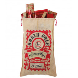 Christmas Toy Jute Sacks