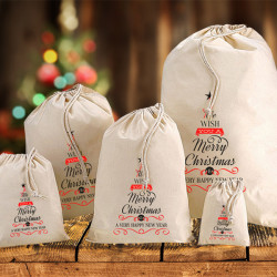 Christmas Tree Cotton Sacks