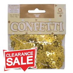 Gold 50th Table Confetti