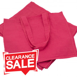 Large Raspberry Cotton Bags *Clearance*