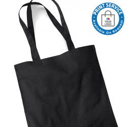 Black Cotton Bags Long Handles