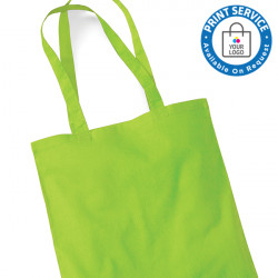 Lime Cotton Bags Long Handles