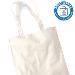 Natural Cotton Bags Long Handles