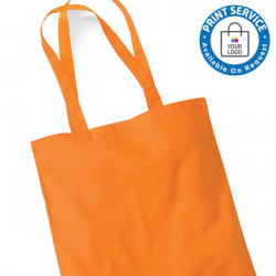 Orange Cotton Bags Long Handles