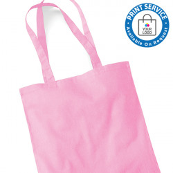 Pink Cotton Bags Long Handles