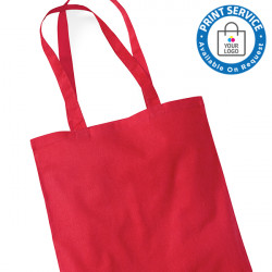 Red Cotton Bags Long Handles