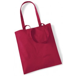 Cranberry Cotton Bags Long Handles