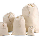 Natural Cotton Drawstring Bags
